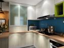 开放式厨房效果图 11�OU字型台面设计_维意定制家具商城