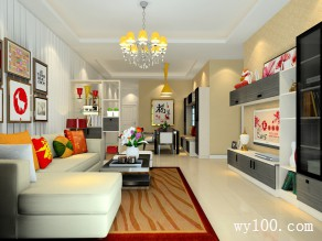 现代简约客餐厅 柜体结合发挥强大储物功能_维意定制家具商城