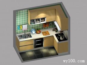 混搭厨房效果图 玲珑精致的乡村风_维意定制家具商城