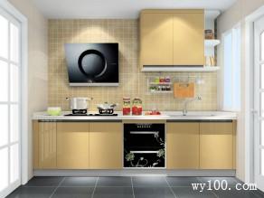 一字型厨房效果图 5平阳光大气_维意定制家具商城