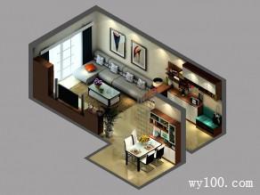 客餐厅一体装修效果图 30�O宽敞又有格调_维意定制家具商城