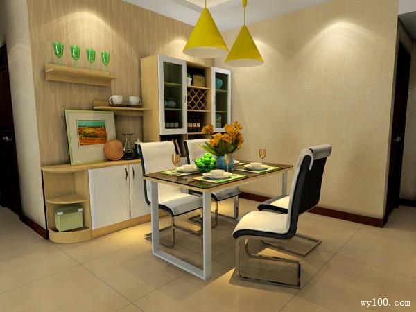 现代客餐厅 原木制造冬日暖阳_维意定制家具商城