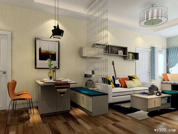 欧式客餐厅效果图 40�O透露精致生活厨房_维意定制家具商城