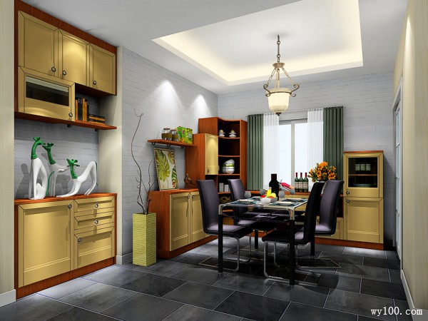 客餐厅一体装修效果图 29�O整体搭配合理_维意定制家具商城