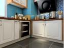 地中海风格厨房效果图 4�O整个厨房清新舒服_维意定制家具商城