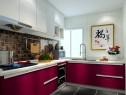 L字型厨房效果图 5�O一种时尚简约的美感_维意定制家具商城