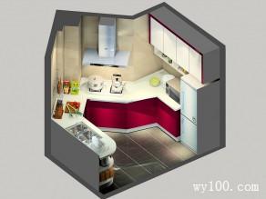 U型厨房效果图 5�O整体空间色调温和,迷人_维意定制家具商城