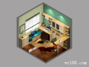 开放式书房效果图 9平简约到极致_维意定制家具商城