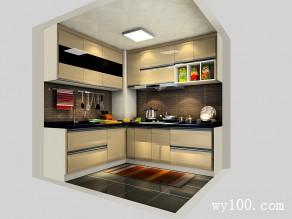 美式田园厨房效果图 4�O整个空间充满田园的气息_维意定制家具商城