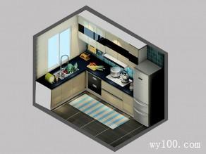 简约现代厨房 L型设计让显得大气便捷_维意定制家具商城