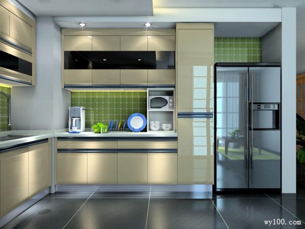 欧式L型设计厨房 整体美观大气_维意定制家具商城