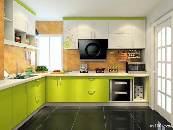小清新厨房 7�O帮你安心等待美味出炉_维意定制家具商城