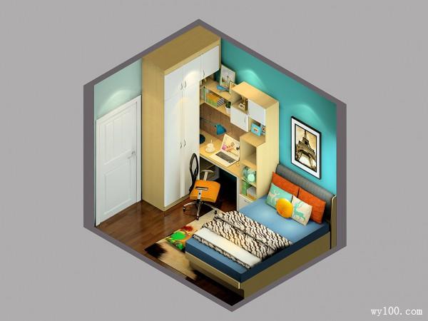小户型卧室效果图 空间用尽整洁依旧_维意定制家具商城