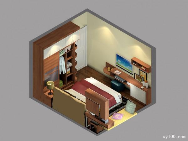 温馨简约卧室 冷暖混色_维意定制家具商城