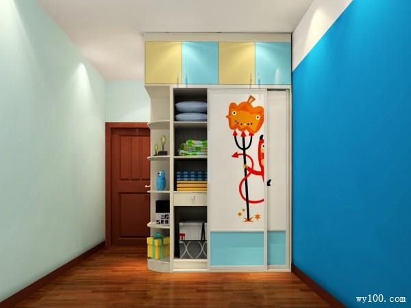 动漫卡通衣柜组合儿童房_维意定制家具商城