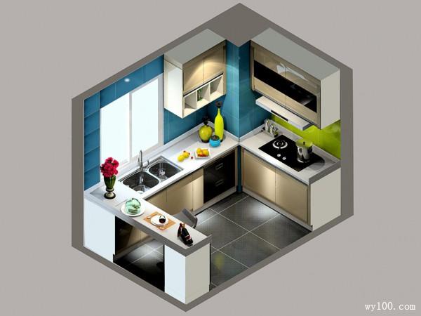 现代厨房效果图 4平烹饪出美味佳肴_维意定制家具商城
