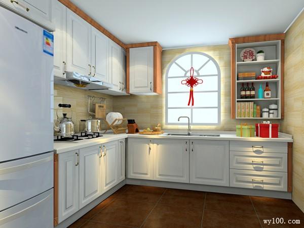 中式厨房效果图 11�O厨房功能整体性更强_维意定制家具商城