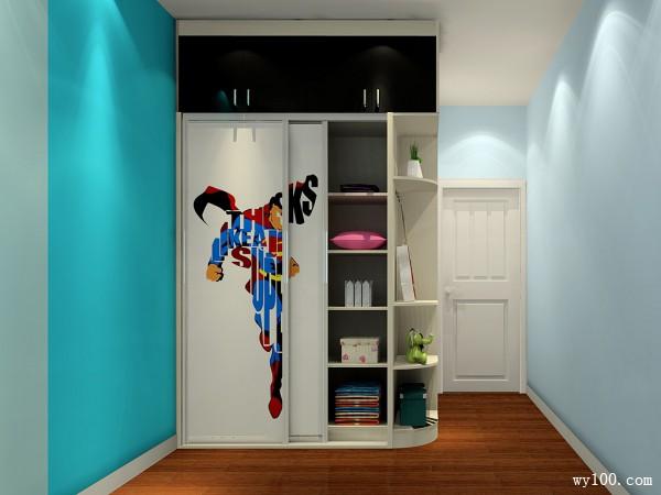 卡通动漫到顶衣柜组合儿童房_维意定制家具商城