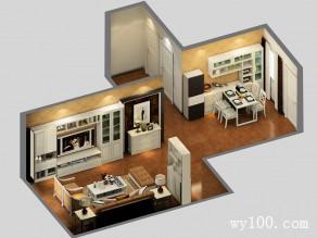 美式客餐厅效果图 深色调营造一股稳重感_维意定制家具商城