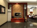 中式客餐厅效果图 屏风做造型装饰让空间高贵典雅_维意定制家具商城