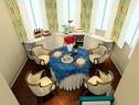 欧式田园客餐厅 在暖黄色的搭配下显得更加温馨_维意定制家具商城