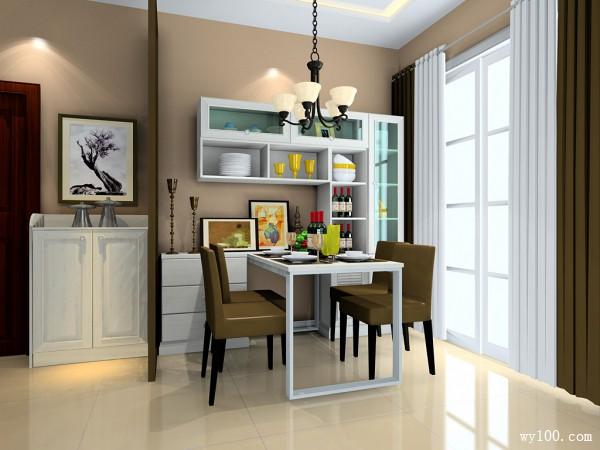 客餐厅一体式效果图 37�O田园家居氛围_维意定制家具商城