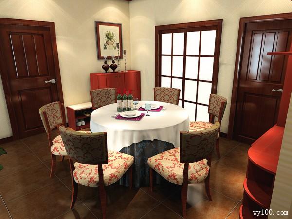 复古餐桌客餐厅装修效果图