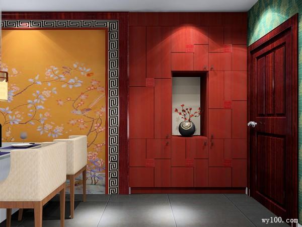 中式简约客餐厅 古香古色又具有韵味的浓厚中国风_维意定制家具商城