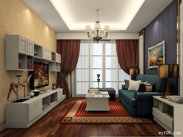 美式客餐厅装修效果图 60�O空间层次富有魅力_维意定制家具商城