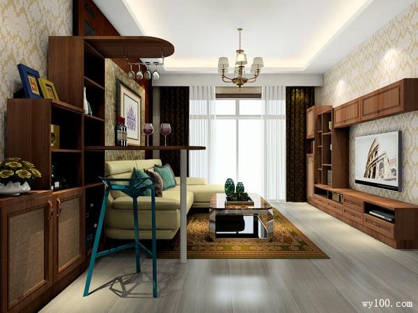 中式客餐厅效果图 26�O更凸显其风格的中式风情_维意定制家具商城