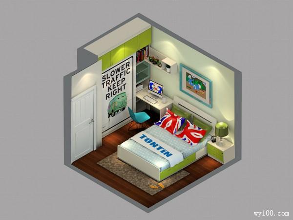 简约儿童房效果图 卡通个性元素同在_维意定制家具商城