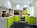 U型厨房效果图 自然清新主题_维意定制家具商城