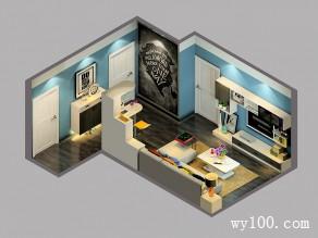 欧式客餐厅效果图 有情调黑白组合_维意定制家具商城