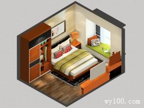 卧室装修效果图 14�O摩登时尚空间_维意定制家具商城