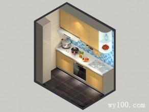 3平温馨现代小厨房_维意定制家具商城