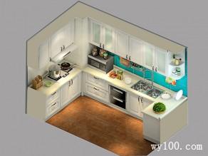 欧式白色厨房 5�O清一色白也不单调_维意定制家具商城