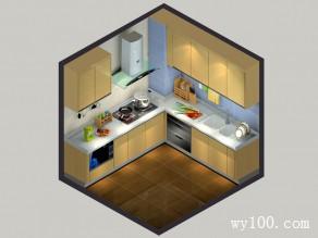 温馨厨房效果图 功能装饰二合一_维意定制家具商城