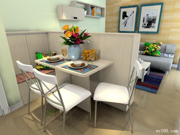 简约现代欧式榻榻米客餐厅_维意定制家具商城