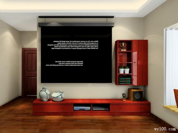 复古电视柜装修效果图
