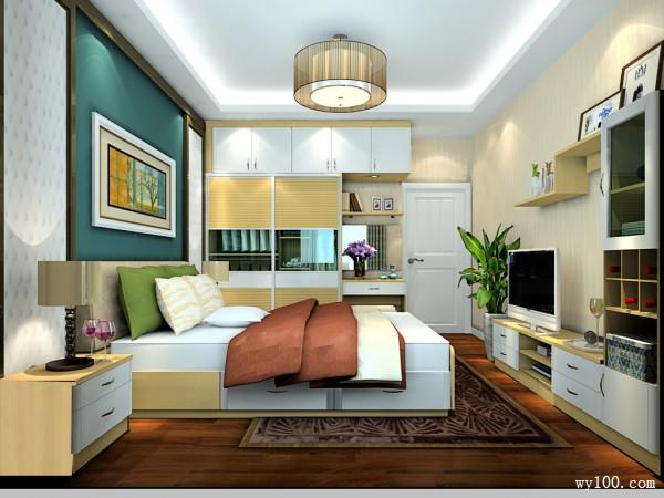 现代浪漫卧室 14�O惬意生活空间_维意定制家具商城