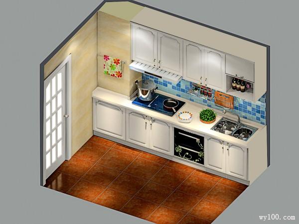 时尚厨房效果图 6平罗马风范_维意定制家具商城