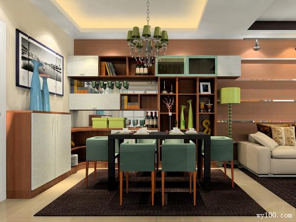 欧式客餐厅效果图 实用性强简约时尚_维意定制家具商城