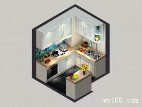 清新浪漫厨房 小空间大利用_维意定制家具商城