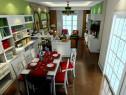 田园客餐厅效果图 和谐自然颜色使得身心放松_维意定制家具商城
