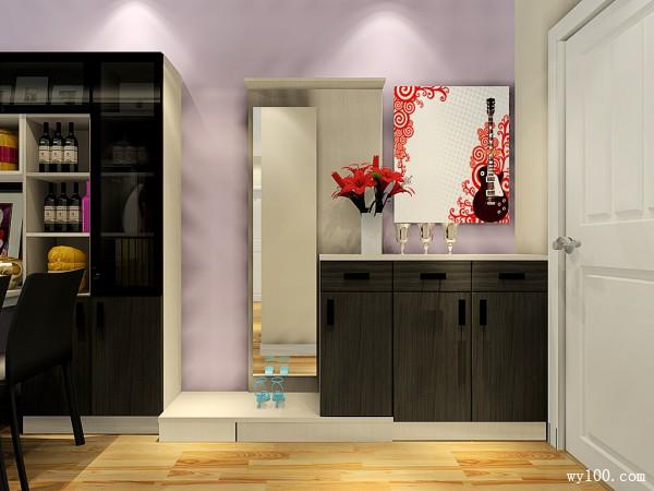 欧式现代客餐厅 吧台餐边柜结合使空间简洁明了_维意定制家具商城