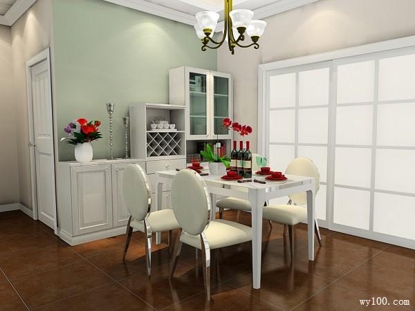 费城故事风格设计客餐厅效果图_维意定制家具商城