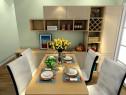 简约客餐厅效果图 巴黎铁塔带生活情趣_维意定制家具商城