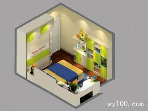 现代儿童房效果图 12平活泼通用型_维意定制家具商城