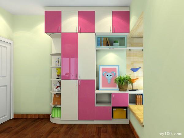 书柜儿童房效果图 10平梦幻组合_维意定制家具商城