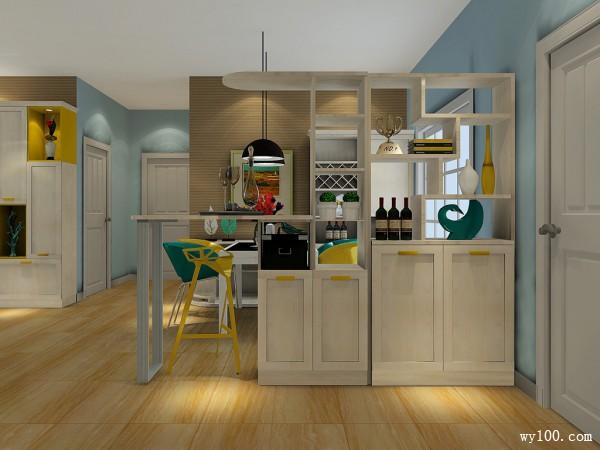 现代简约客餐厅 隔断柜超强收纳也改善房间风水_维意定制家具商城